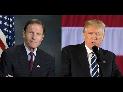 Trump hits Blumenthal for Gorsuch Comment