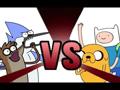 Finn Jake vs Mordecai Rigby Mordecai And Rigby vs Finn And