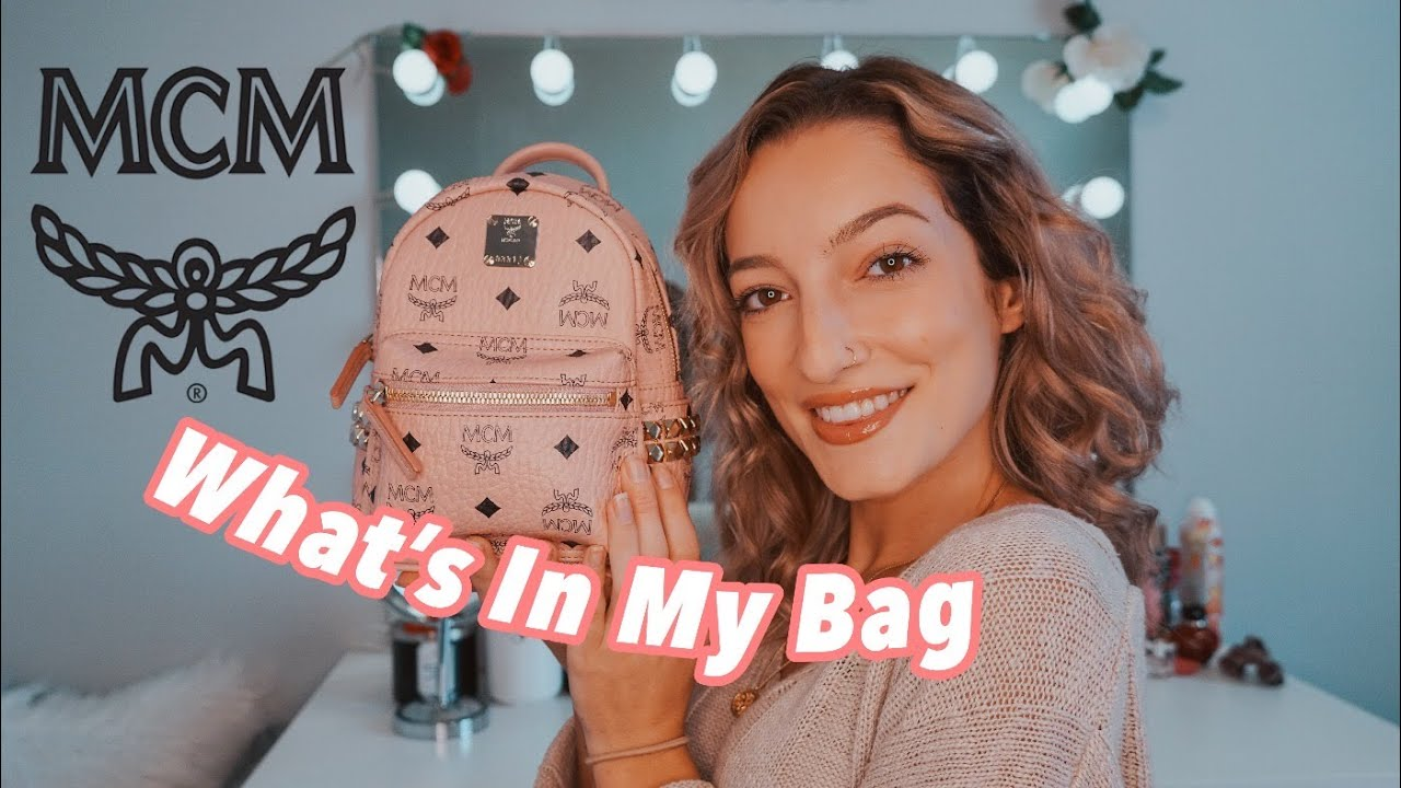 What's In My MCM Mini Backpack | WHAT FITS??