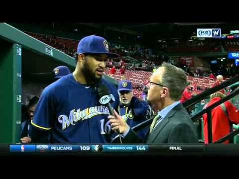 Domingo Santana leads Brewers past Cardinals with big HR