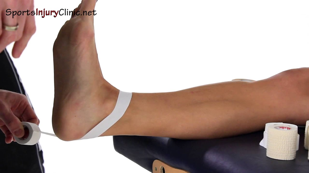 754d9229c1 Ankle taping - Heel lock - YouTube
