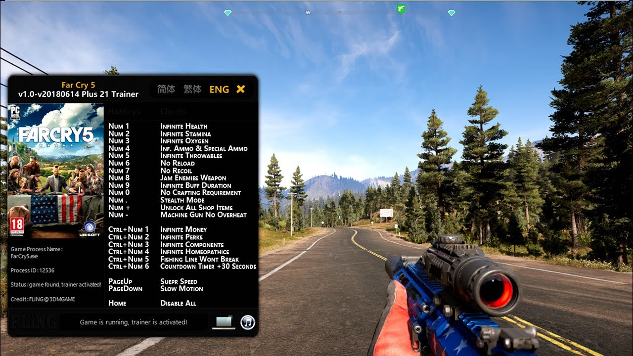far cry 5 trainer uplay