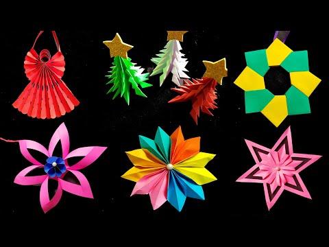 10 Christmas Decoration Ideas || 🎄⭐Paper Decoration Ideas For Christmas