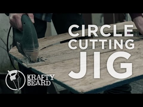 Cutting perfect circles with the Krafty Beard circle jig