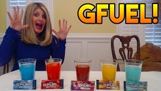"MAKING MY MOM TRY ""GFUEL"" ENERGY DRINK! Crazy Reaction - GFuel Taste Test! ~ Momma Pack Face Reveal!"
