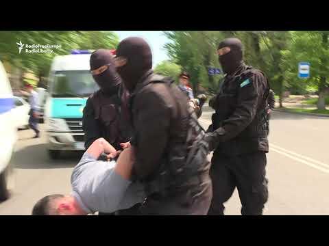 Dozens Detained In Kazakhstan After Calling For Release Of Political Prisoner