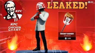 NEW LEAKED KFC CHICKEN CHAMP SKIN | BUCKET BASHER HARVESTING TOOL | Fortnite Battle Royale