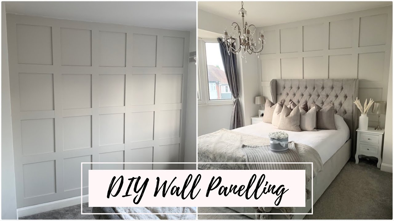 Cheap Diy Wall Panelling How To Guide Youtube
