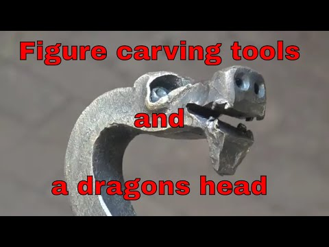 Figure carving tools and a dragon head test forging
