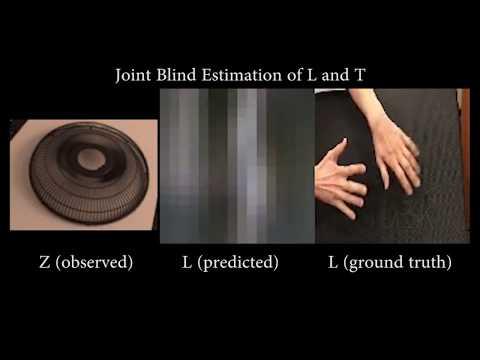 Computational Mirrors: Blind Inverse Light Transport by Deep Matrix Factorization