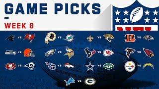 Week 6 NFL Game Picks!   NFL 2019