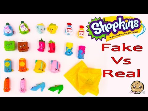 Shopkins Season 2 Official 12 Pack Vs Fake + 4 Blind Bags Comparing Toy Video Cookieswirlc