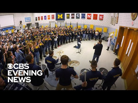 The Michigan Marching Band Finds A Future Recruit