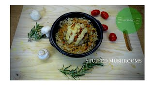 Stuffed Mushrooms - Gefüllte Riesen Pilze; With Vegetable Herb Stuffing