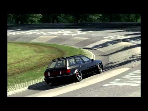 Assetto corsa: Audi RS2 avant 1000hp vs. Ferrari LaFerrari Nürburgring