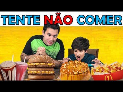 TENTE NÃO COMER | TRY NOT TO EAT CHALLENGE | PEDRO MAIA