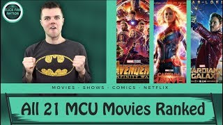 All 21 MCU Movies Ranked (Including Captain Marvel)