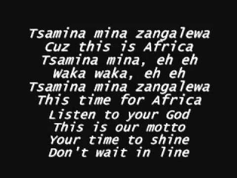 Waka Waka   Shakira Lyrics Download Link