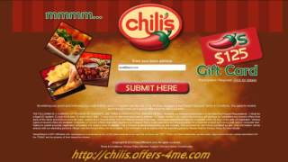 250$ Chilis Gift Card Restaurant(http;//chilis.offers-4me.com Welcome ! Are you surprised about the Chilis Coupons in our offer ? Don't you believe that is true ? I guarantee you, this Chilis 250$ ..., 2015-01-13T20:35:50.000Z)