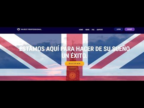 ????INVEST PROFESIONAL INVERSION DE ALTA RENTABILIDAD NUEVO GANA DESDE 1% HASTA 2.87% DIARIO????