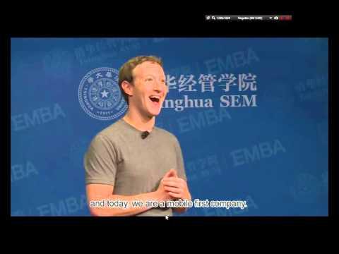 Mark Zuckerberg Tsinghua egyetemi beszéde magyar alámondással