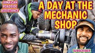 Repair Rear Axle Hub Seal leak On Volvo Truck Jamaicans at work. Vlog#116