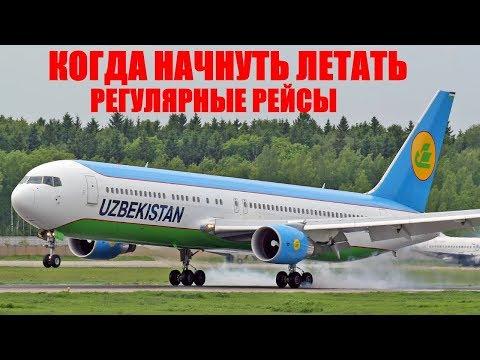 Рейсы  в Ташкент. Когда начнут летать Регулярные рейсы из России
