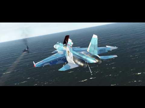 DCS Su-33 Deck Landing Tests (WIP)