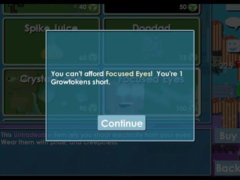 Growtopia| Buying Focused Eyes :D - YouTube