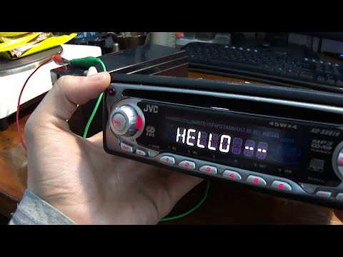 How to connect car radio at home (directly to the battery)