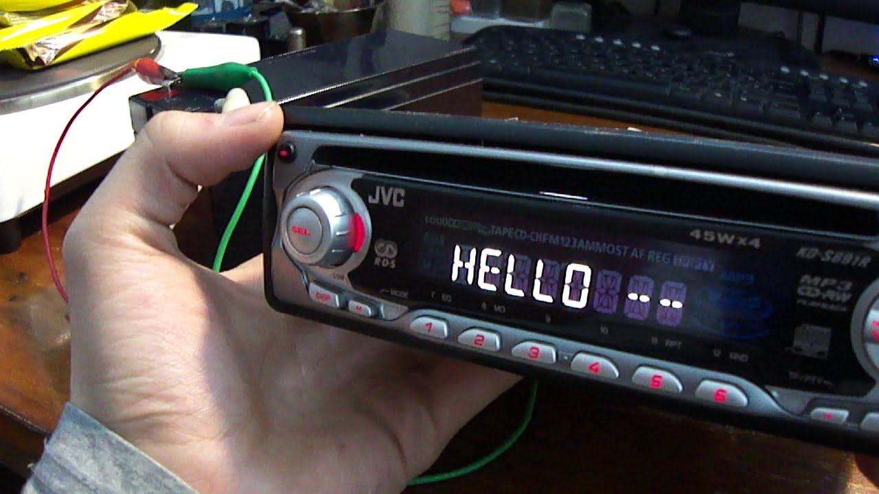 How to connect car radio at home (directly to the battery or power ...