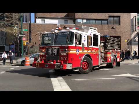 FDNY RESPONDING COMPILATION 68 FULL OF BLAZING SIRENS & LOUD AIR HORNS THROUGHOUT NEW YORK CITY.