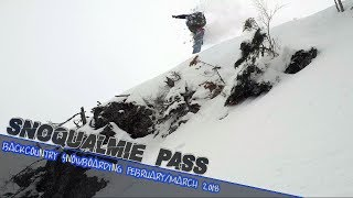Backcountry Snowboarding Snoqualmie Pass February/March 2018 // DJI Mavic Air Drone video