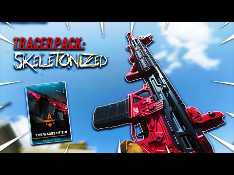 "THE NEW M4A1 ""THE WAGES OF SIN"" RED TRACER PACK in MODERN WARFARE (TRACER PACK: SKELETONIZED BUNDLE)"