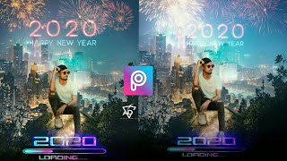 Happy New Year 2020 special picsart photo editing tutorial picsart New Year concept editing 2020