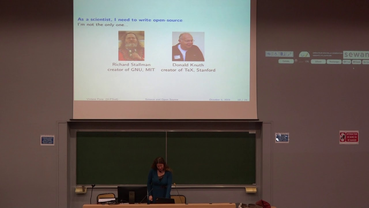 Image from Conférence plénière #1 Science and Open Source: what do we learn from each other?