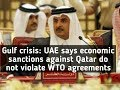 Gulf crisis: UAE says economic sanctions against Qatar do not violate WTO agreements