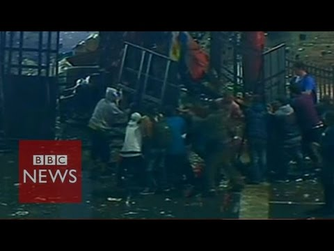 Riots in Buenos Aires after Argentina's World Cup defeat - BBC News