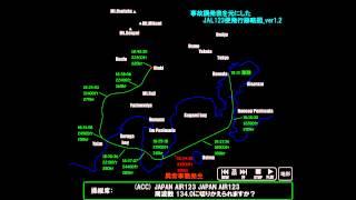 日航ジャンボ機 - JAL123便 墜落事故 (飛行跡略図 Ver1.2 & ボイスレコーダー)