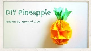 Diy How To Make A Pineapple - Summer Crafts Kids - Origami, Paper Crafts