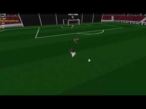 Roblox PFA - EternalFlare11 vs FCB - All Touches - Striker Highlights