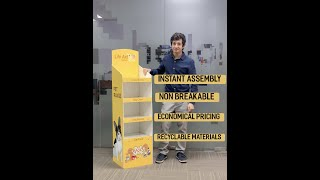 Foldable Floor Standing Display Unit (FSU) - Ships Flat and Self Assembles Instantly