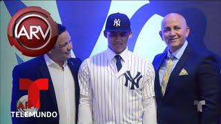 Joven pelotero dominicano firmó con Los Yankees | Al Rojo Vivo | Telemundo