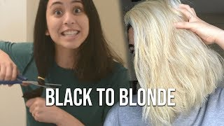 Going to Blonde at Home | Black to Blonde Hair Transformation
