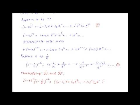 Prove that C0  2*C1 + 3*C2  4*C3 +  {  ^n}*n+1*Cn = 0
