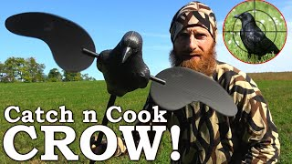 CROW Catch and Cook (EPIC!) | 'BACON Wrapped Poppers' at the Cabin
