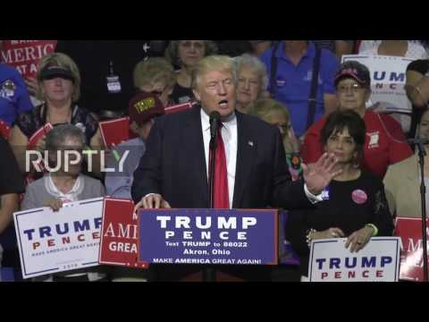 USA: Trump slams Clinton over Uranium One deal during Akron rally