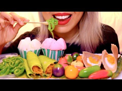 ASMR Eating & Trying Thai Desserts | Inspired By SAS-ASMR & N.E Let's Eat *No Talking