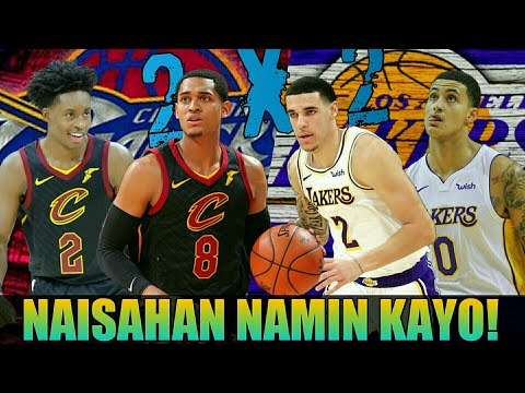 Cavaliers Naisahan ang LA Lakers   Clarkson-Sexton vs Ball-Kuzma Duel Highlights