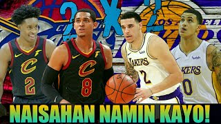 Cavaliers Naisahan ang LA Lakers | Clarkson-Sexton vs Ball-Kuzma Duel Highlights